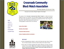 Tablet Preview of crossroadsblockwatch.org